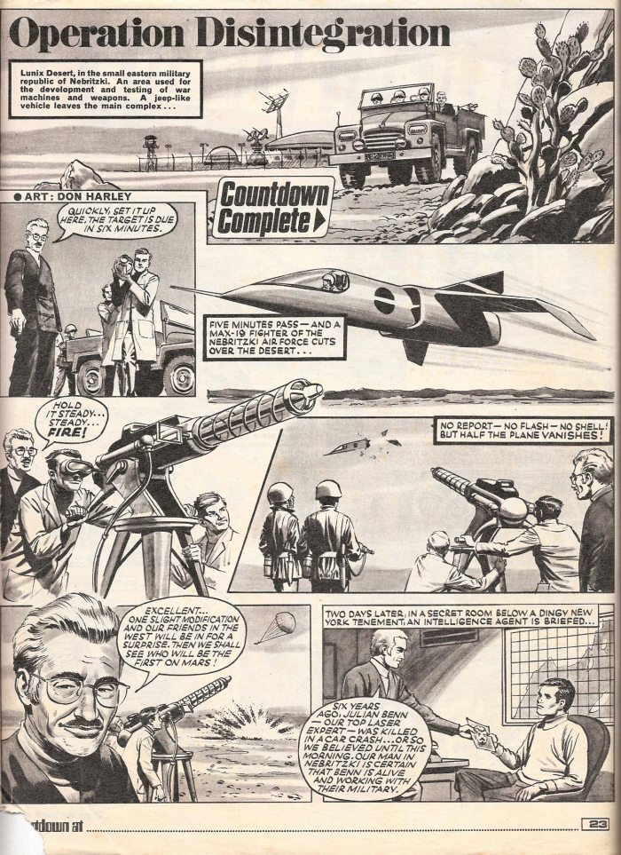 """Operation Disintegrator"" from Countdown Issue 30, art by Don Harley © REACH"