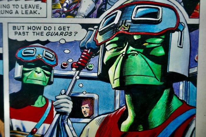 "Detail from art for ""Dan Dare - Green Nemesis"" by Don Harley, with thanks to Tim Booth"