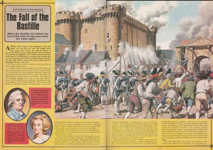 """The Fall of the Bastille"" from World of Knowledge No. 38. Art by Don Harley. With thanks to David Slinn"