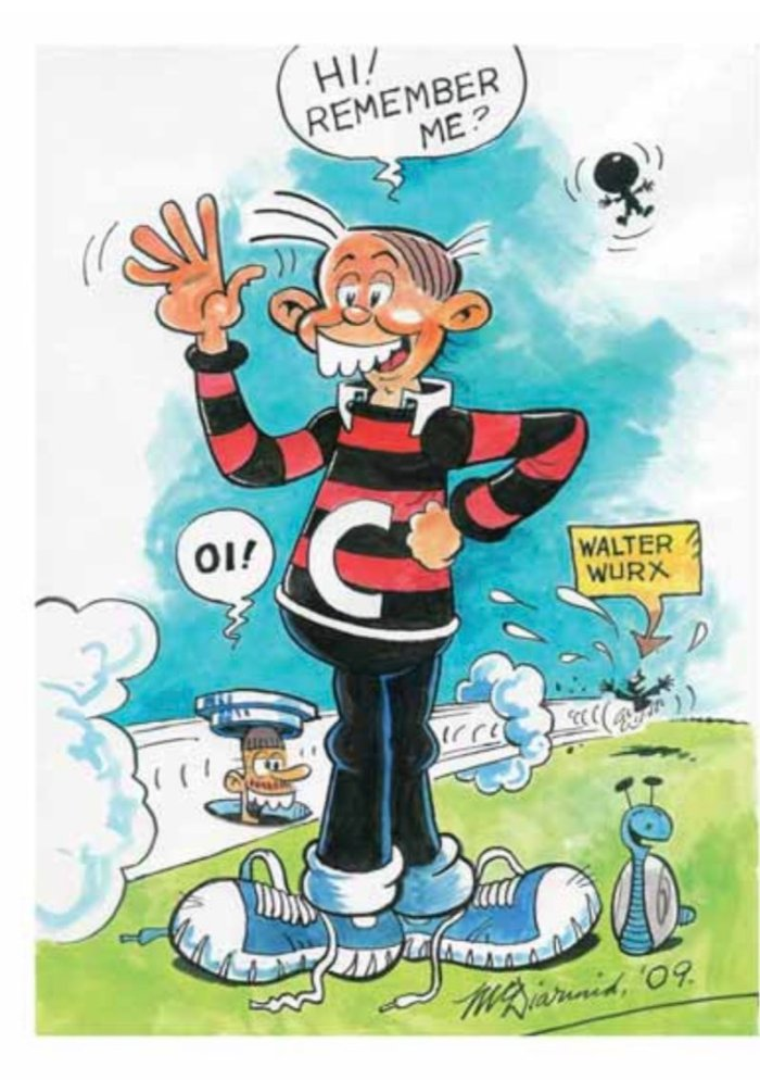 """One of Frank's many drawings of """"Cheeky"""", created for fan Paul Squires"""