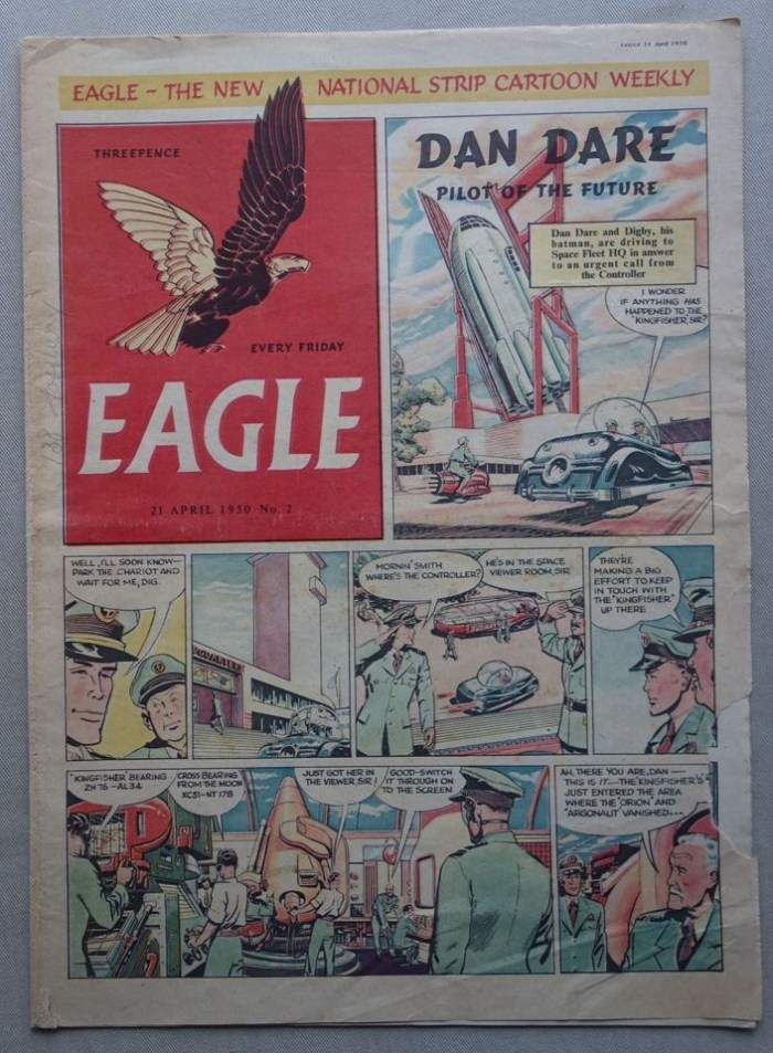 Eagle Volume 1 No. 2 cover dated 21st April 1950