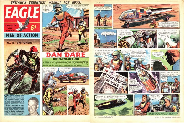 Art from Dan Dare: The Earth Stealers