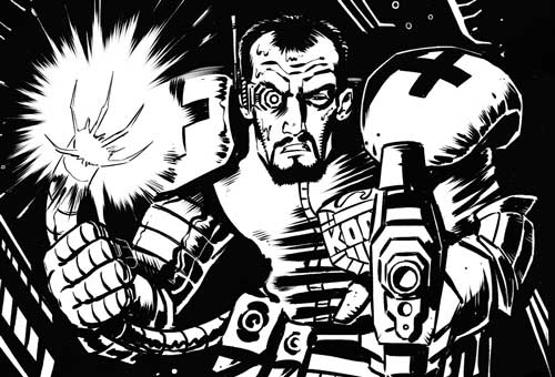 Zarjaz 39 - Tales of Mega-City One - A Cold Heart by writer Heath Ackley and artist Dave Peloe