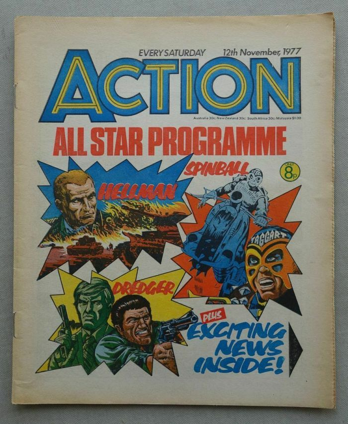Action - cover dated 12th November 1977 (Last Issue)