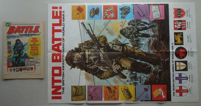 Battle Issue 2 cover dated 15th March 1975 Free Gift