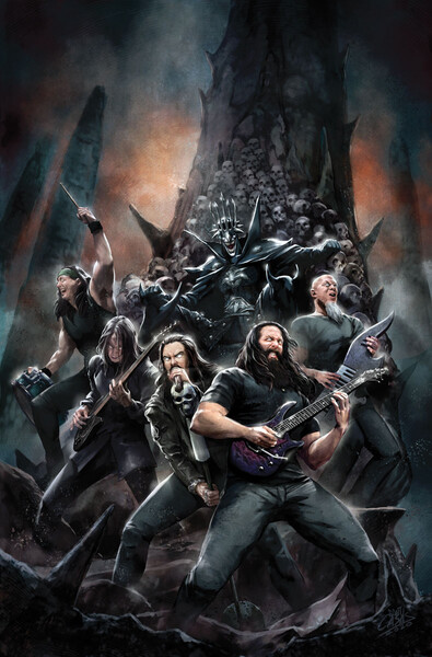 Dark Nights: Death Metal – Band Edition Issue #6 - Dream Theater cover by Santi Casas