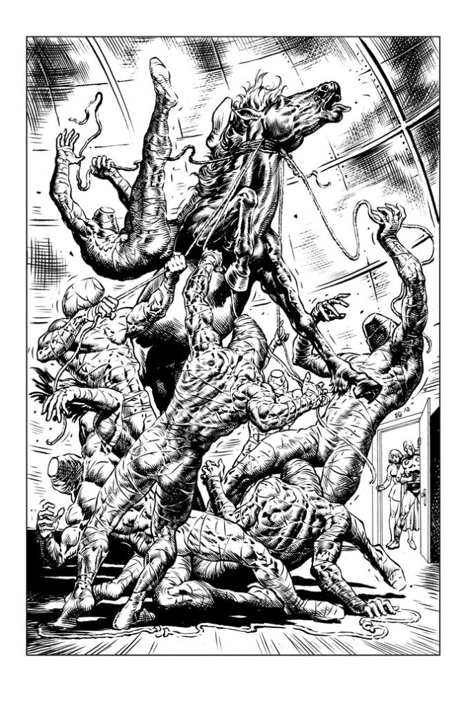 """Page 8 of """"Artemis Rises"""" by Jack Katz, with guest inks by Liam Sharp"""