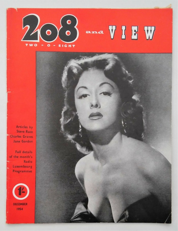 Radio Luxembourg's 208 and View magazine for December 1954