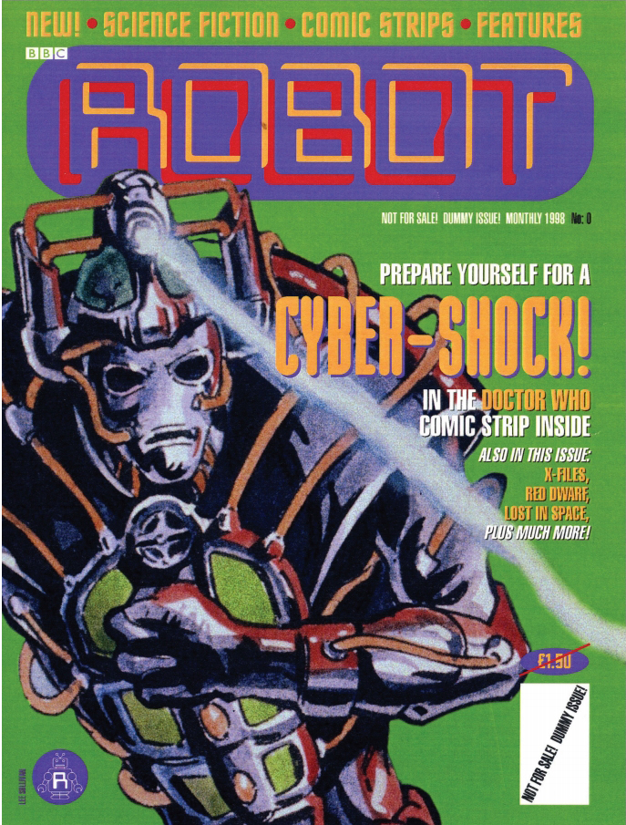 A dummy cover for ROBOT, Doctor Who art by Lee Sullivan