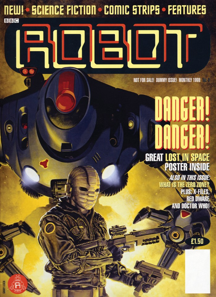 A dummy cover for ROBOT, art by Garry Leach