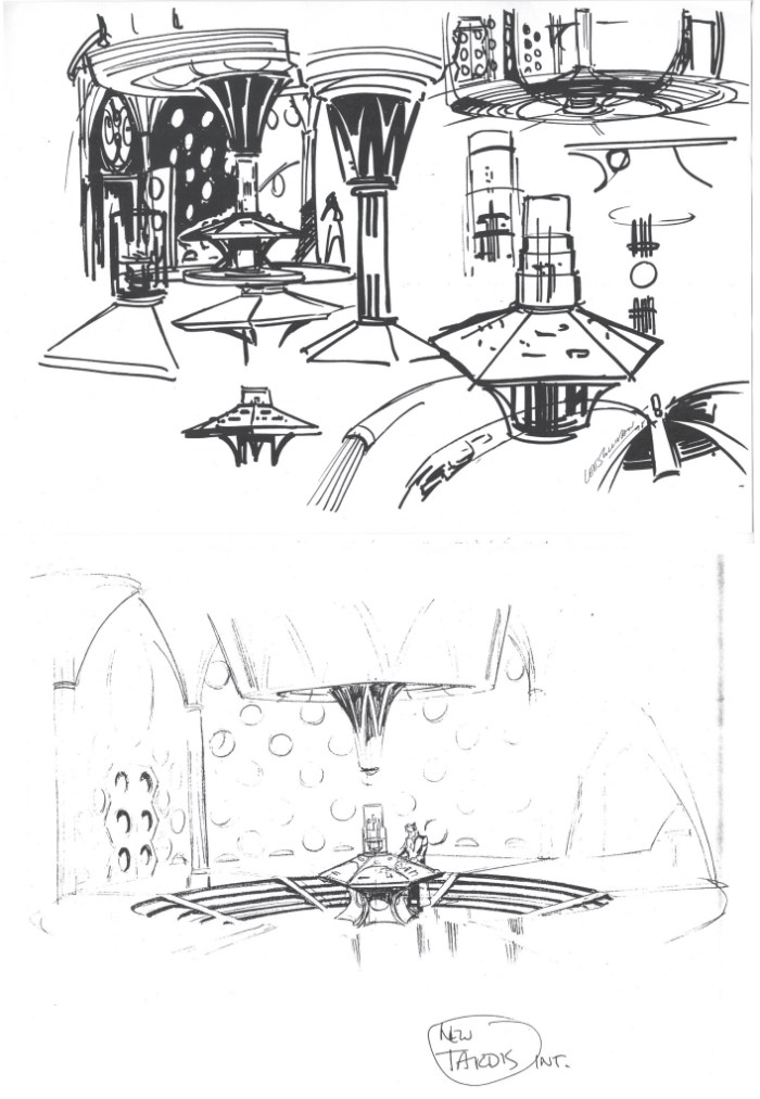 Initial designs for the new TARDIS by Lee Sullivan