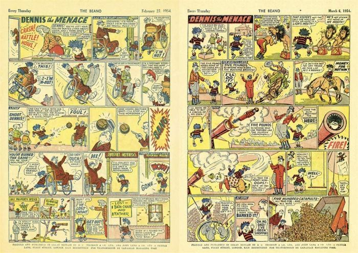 Dennis the Menace strips from 1954