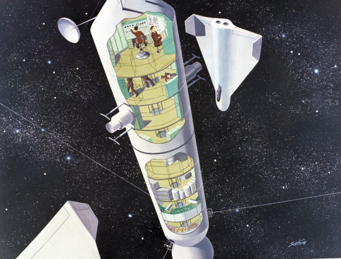 """Space """"Migrator"""" Design by John Sentiovic. Repository: San Diego Air and Space Museum"""