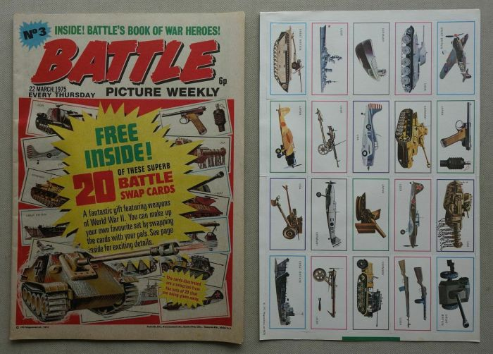 Battle Picture Weekly No. 3, cover dated 22nd March 1975 - with free gift