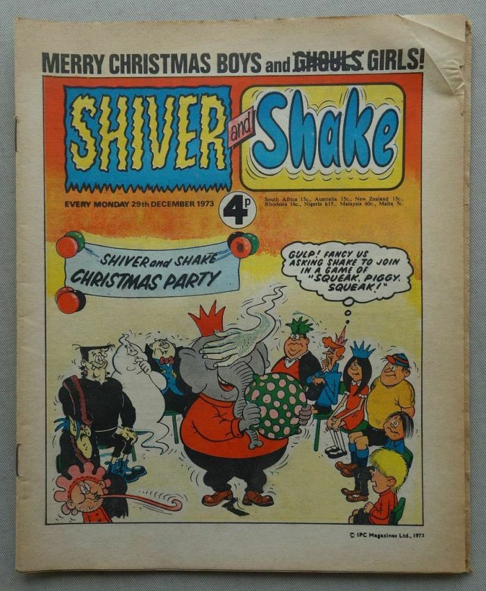 Christmas Shiver and Shake, cover dated 29th December 1973