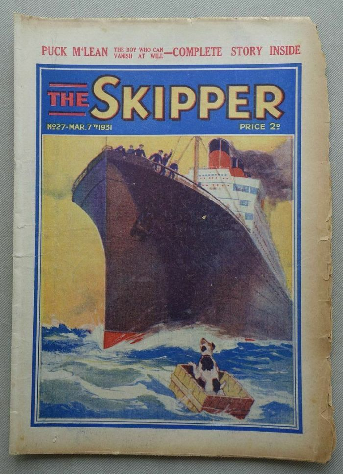 Skipper storypaper No. 27, cover dated 7th March 1931