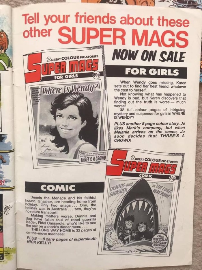 Super Mags (1986) - Promotional