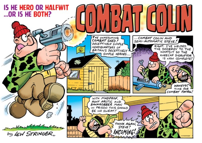 A page from Combat Colin's first appearance in the very first volume of Aces Weekly - available as a back volume. © Lew Stringer