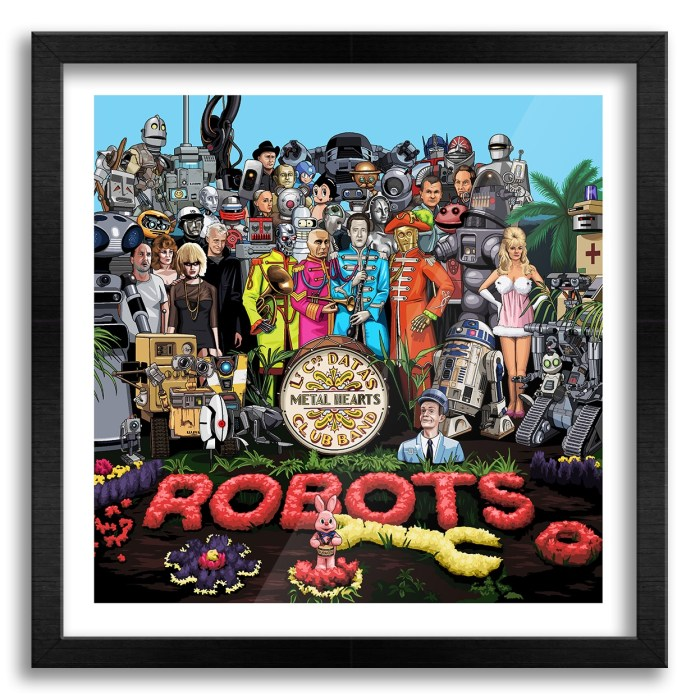 Robots by Jim'll Paint It. Yes, of course it's available as a print