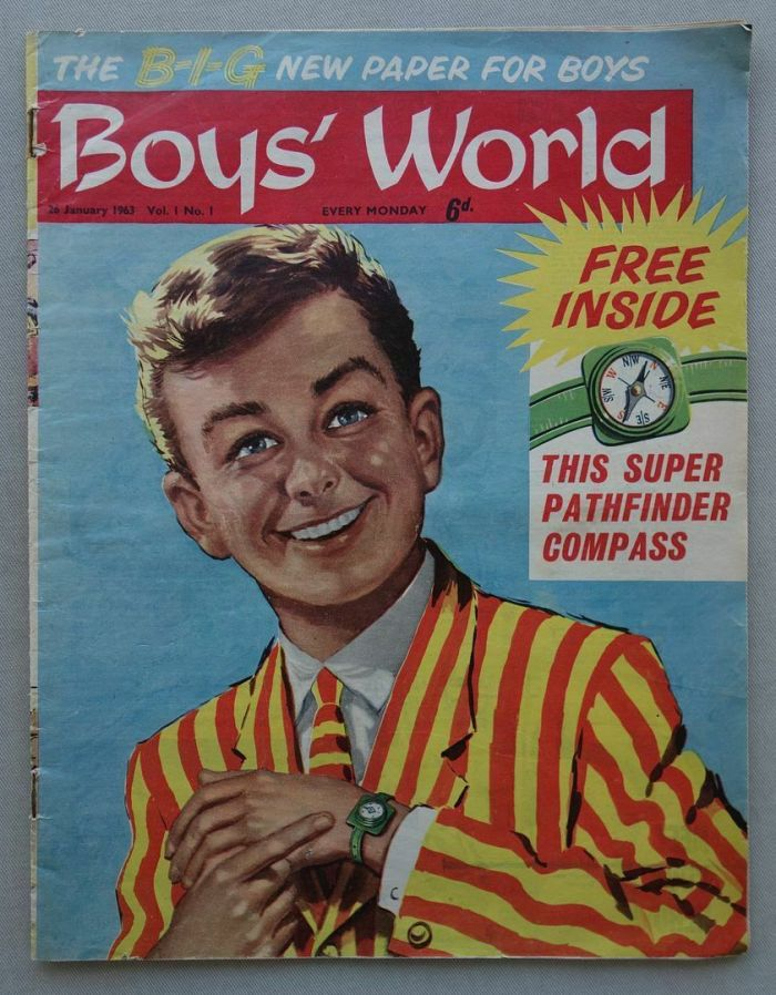 Boys' World Issue One, cover dated  26th January  1963