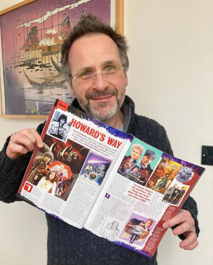 """Colin Howard recently featured in Doctor Who Magazine. Photo"""" Michelle Howard"""