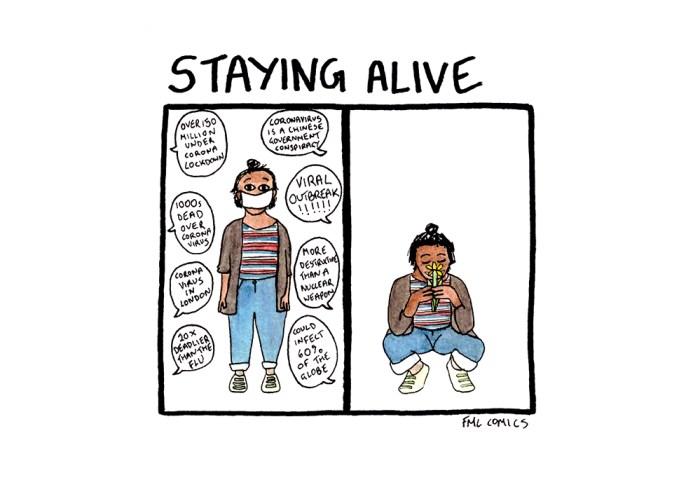 FML Comics - Staying Alive  by Natasha Natarajan