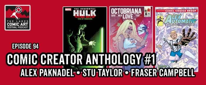 "Lakes International Comic Art Festival Podcast Episode 94- ""An Anthology of Creators #1"