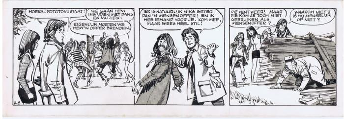 """An early episode of the eighth untitled """"Aafje Anders"""" story, written by Andries Brandt with art are by Robert Hamilton & Richard Klokkers, published in the Dutch newspaper De Telefgraaf. Via  Bobbedoes"""
