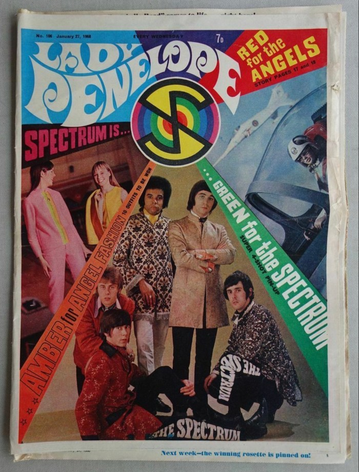 Lady Penelope 106, cover dated 27th January 1968, with Spectrum, the band that performed the Captain Scarlet theme, on the cover