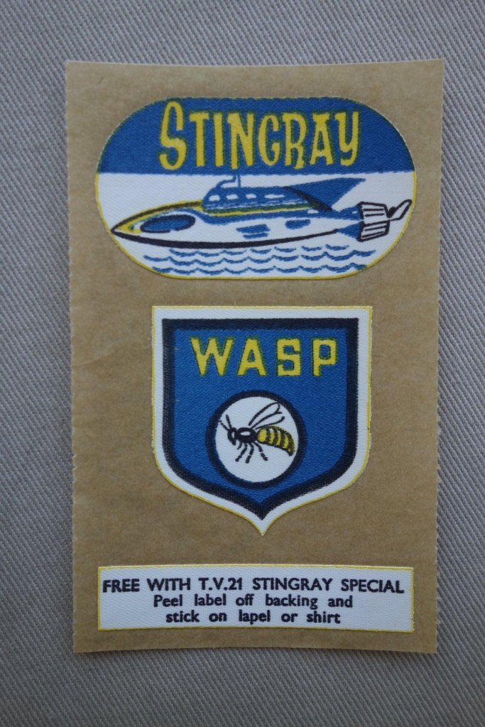 TV Century 21 Stingray Special WASP badge free gift published in 1965