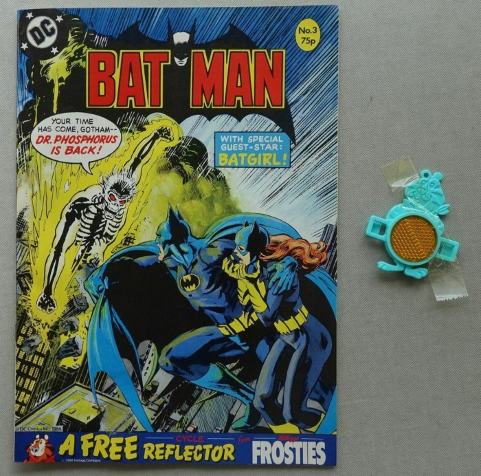 Batman Monthly comic Issue 3 (1988), with free gift. - a Kelloggs Reflector