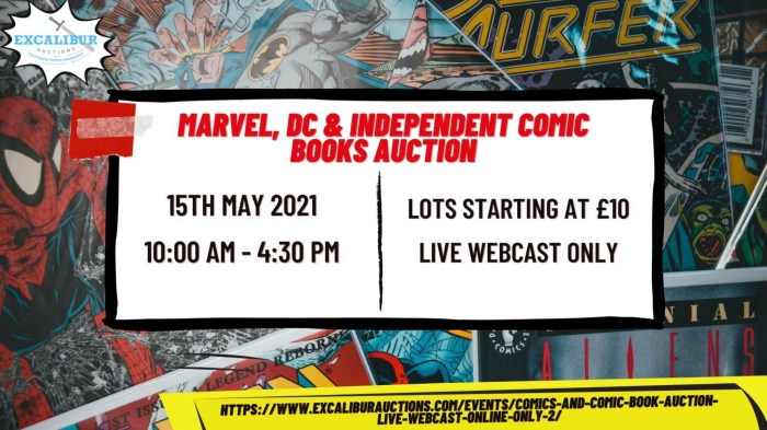 Excalibur Auctions Comic Auction - 15th May 2021