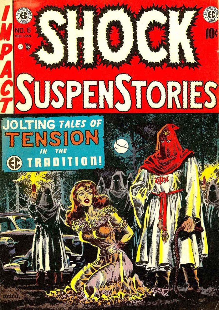 The cover of Shock SuspenStories No. 6 by Wally Wood as previously published