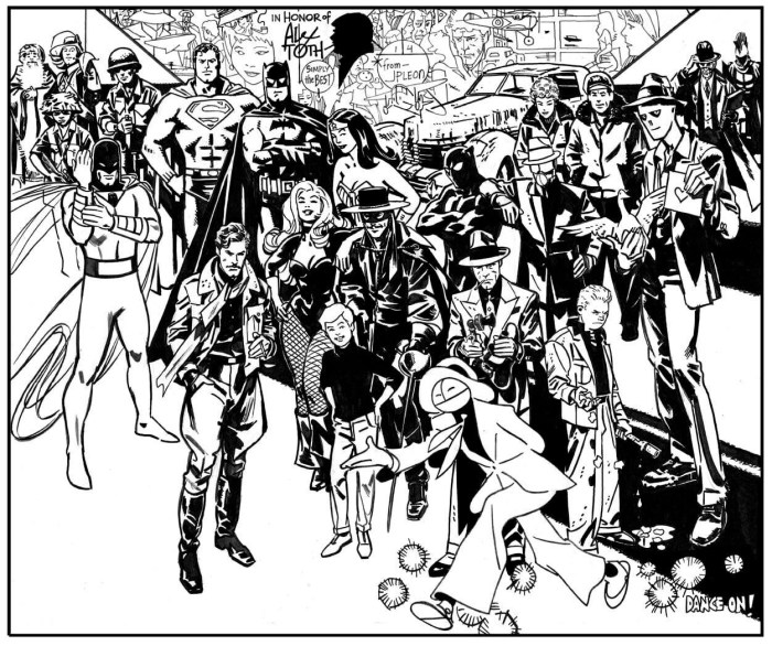 A tribute to Alex Toth by John Paul Leon. With thanks to Michael Neno