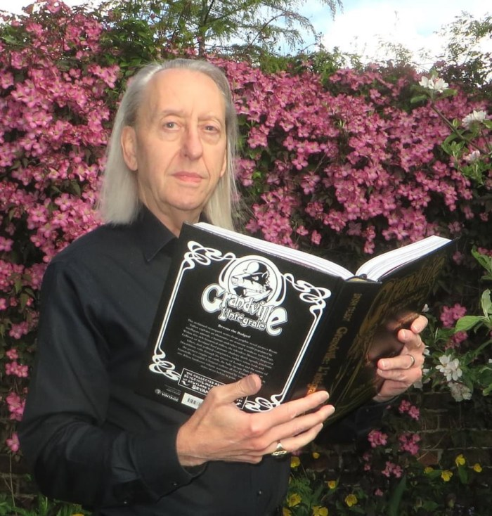 Bryan Talbot with a copy of Grandville L'Integrale