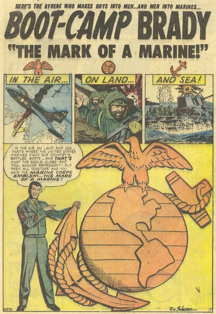 Art from Marines in Action #3 by Tom Sawyer, published in 1955