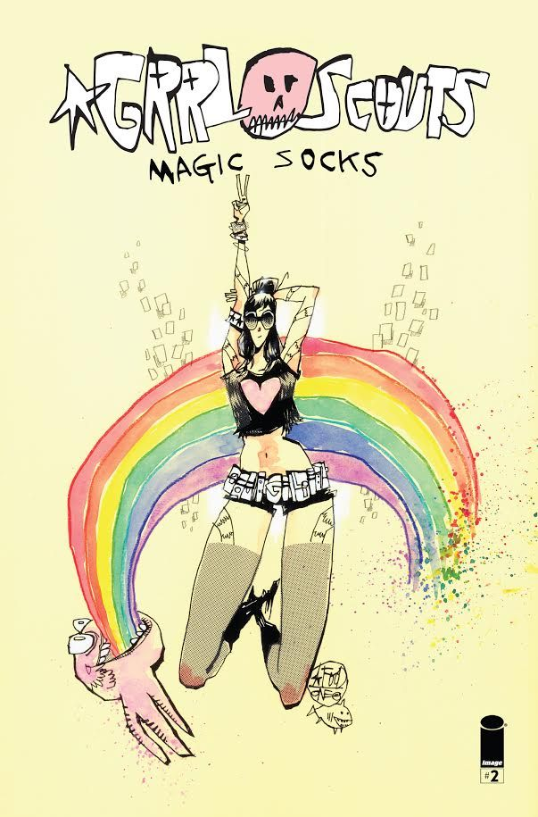 Grrl Scouts: Magic Socks #4 by Jim Mahfood, cover by Mahfood, on sale 21st June 2021