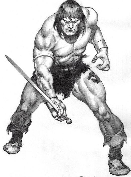 Conan the Barbarian by Sanjulian