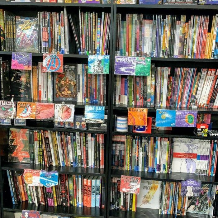 Graphic novel stock at Geek Retreat Chelmsford