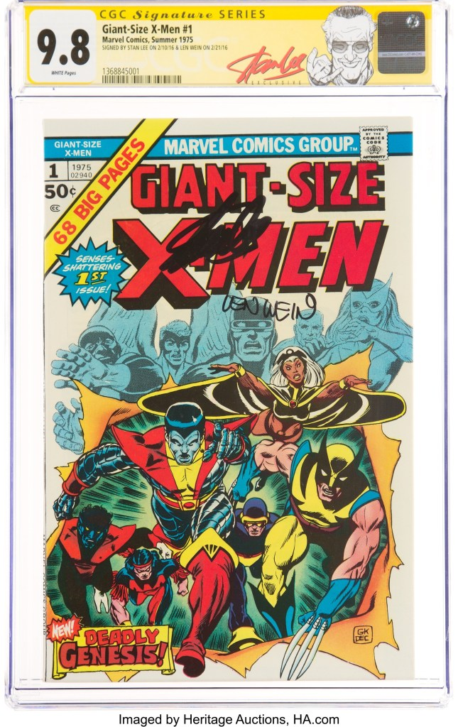 Giant-Size X-Men #1 Signature Series CGC NM/MT 9.8 signed by Stan Lee and writer Len Wein
