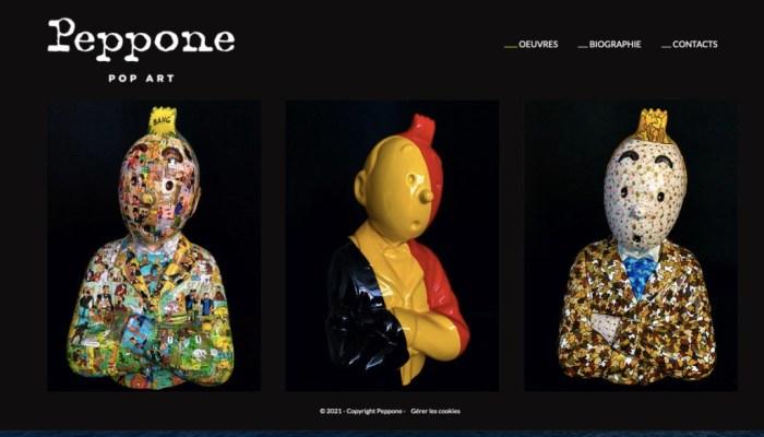 Peppone Pop Art inspired by Tintin