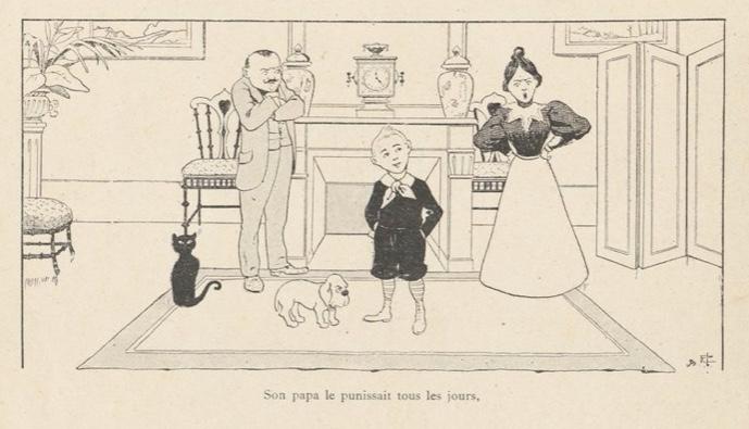 Tintin Elf by Benjamin Rabier, a predecessor of Hergé's Tintin?