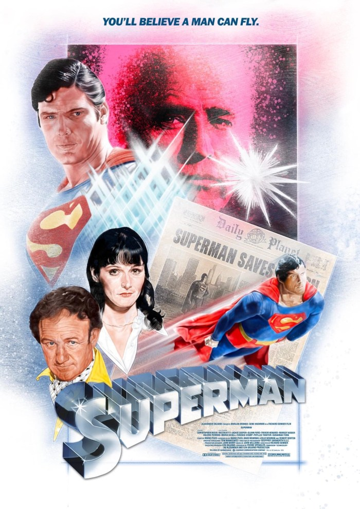 Superman Movie Poster by Pete Wallbank