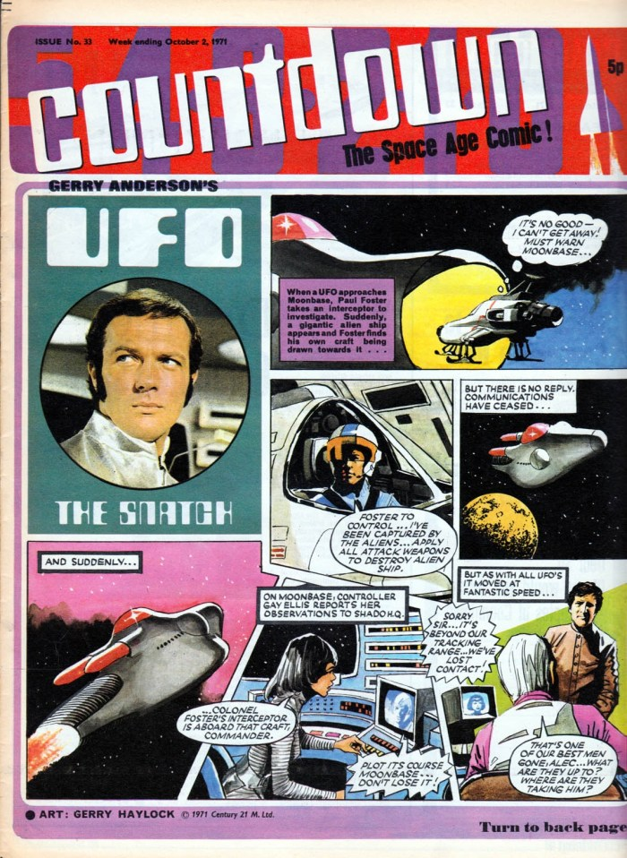 """""""UFO"""" strip from Countdown, art by Gerry Haylock"""