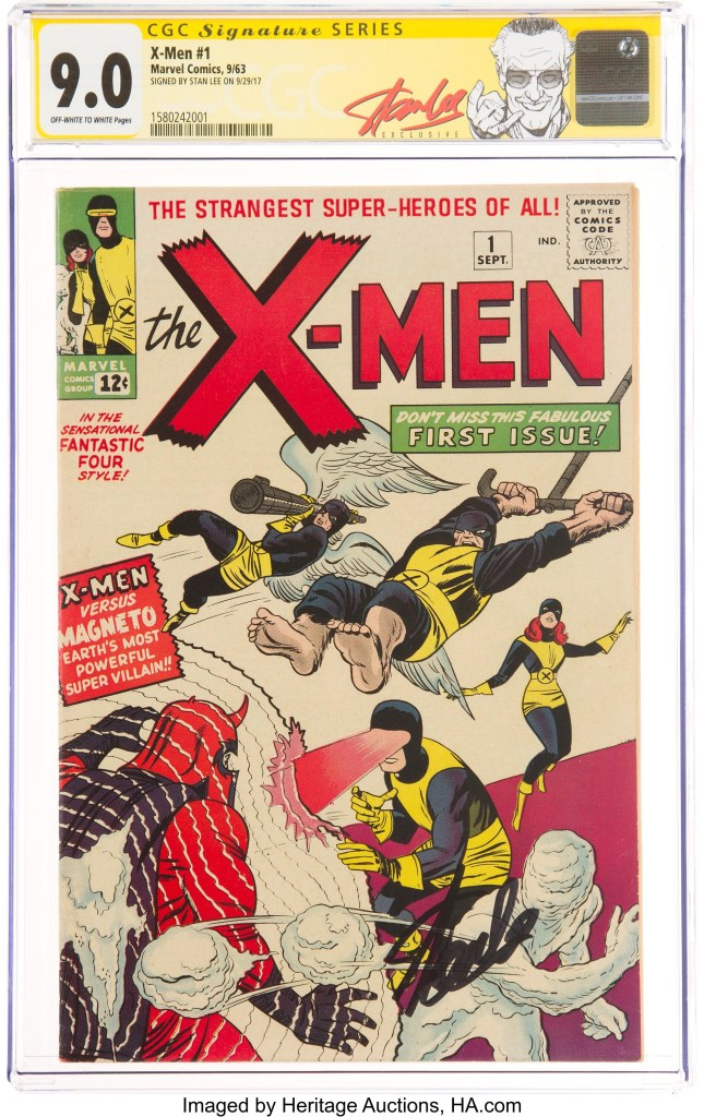 X-Men #1 graded CGC 9.0 and signed by Stan Lee