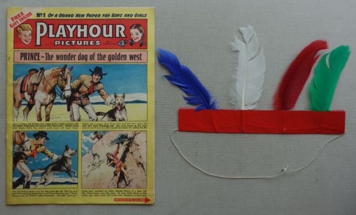 Playhour Pictures comic #1 (1954)+FREE GIFT Indian Head Dress