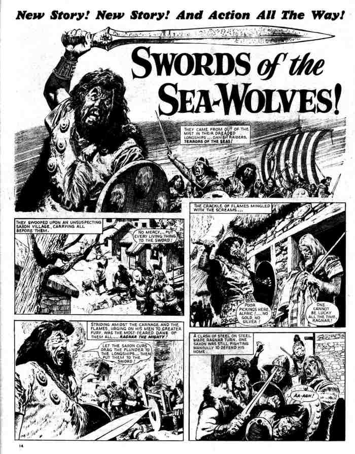 """""""Karl the Viking"""" debuted as """"The Sword Of Eingar"""" (later reprinted as part of """"Swords Of The Sea Wolves"""") in Lion 447, cover dated 29th October 1960"""