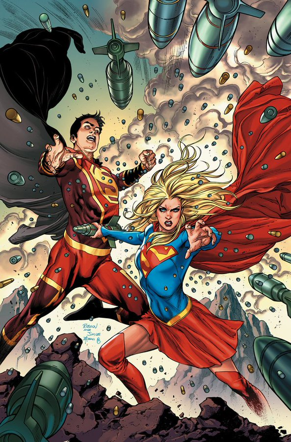 Shazam and Supergirl by Robson Rocha