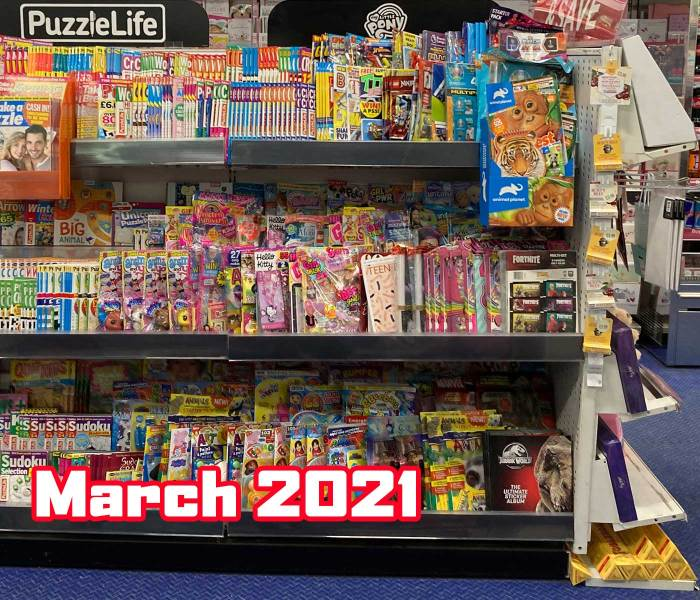 WHSmith Lancaster Children's Section March 2021