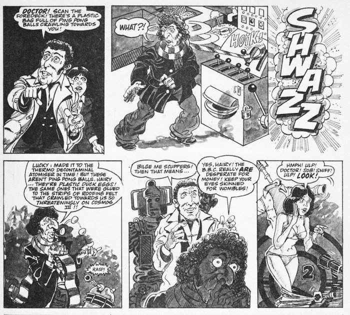 """""""Doctor Ooh"""" - MAD magazine UK 161 (Doctor Who parody, art by Steve Parkhouse)"""